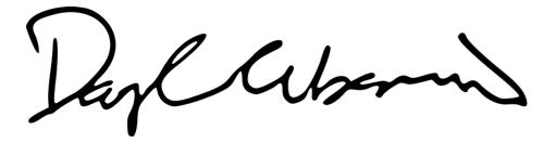 Daryl Urbanski Hand Signature